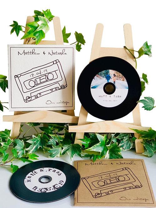 Vinyl Effect Writable CD