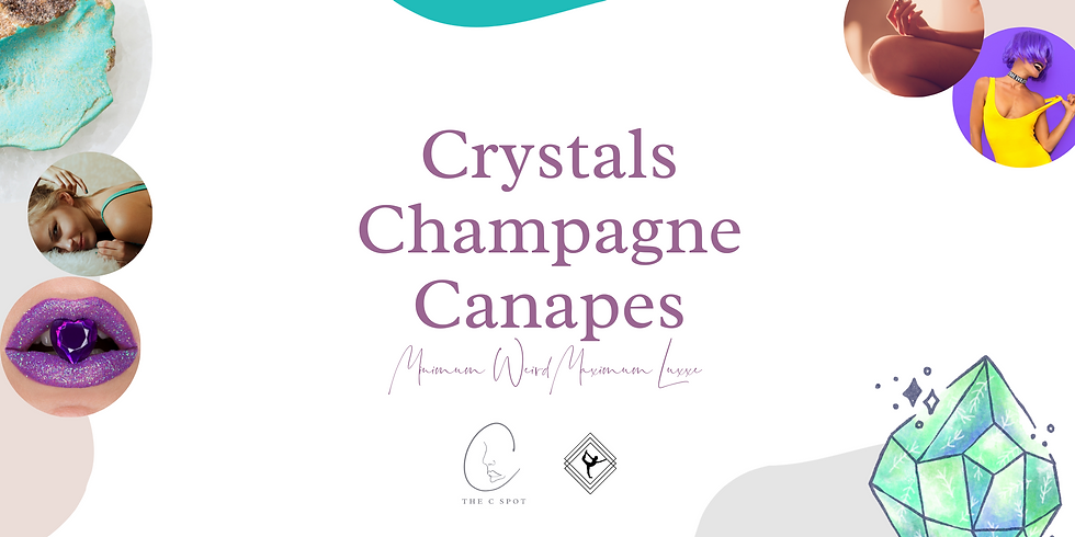 Crystals, Champagne, Canapes