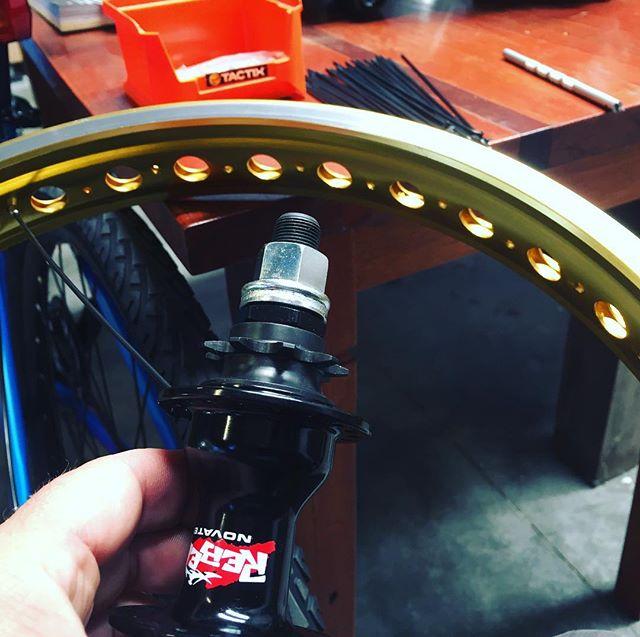Bmx wheel building time