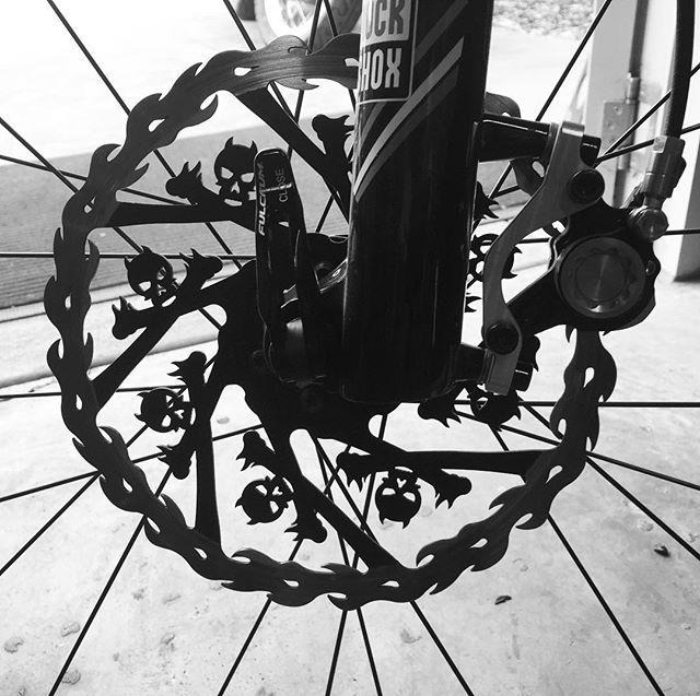 Pimp my brake rotor__#mtbrotor #brakerotor #mtb #bikeshop #spokensprocket