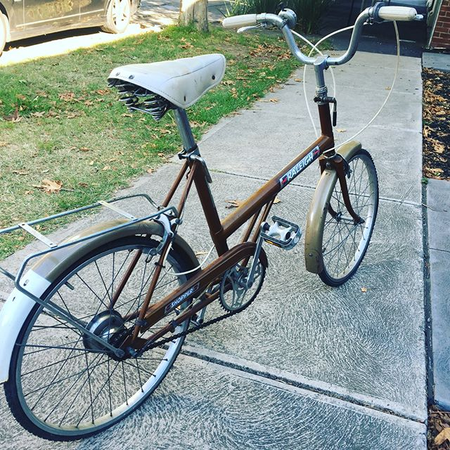 Far sale $120. Raleigh Shopper in all original condition. Selling on behalf of a customer. Tyre and