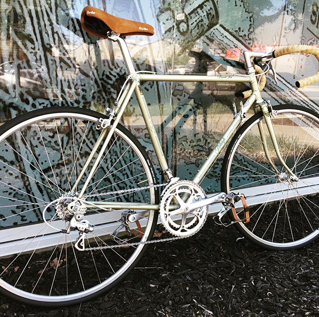 Raleigh record ace built up with Campagnolo veloce, chorus hubs on mavic open elite rims