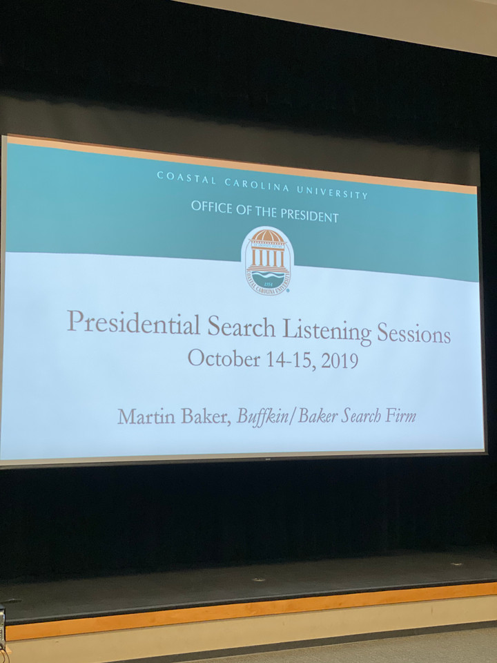 Presidential search committee has goals to find candidate by Spring 2020