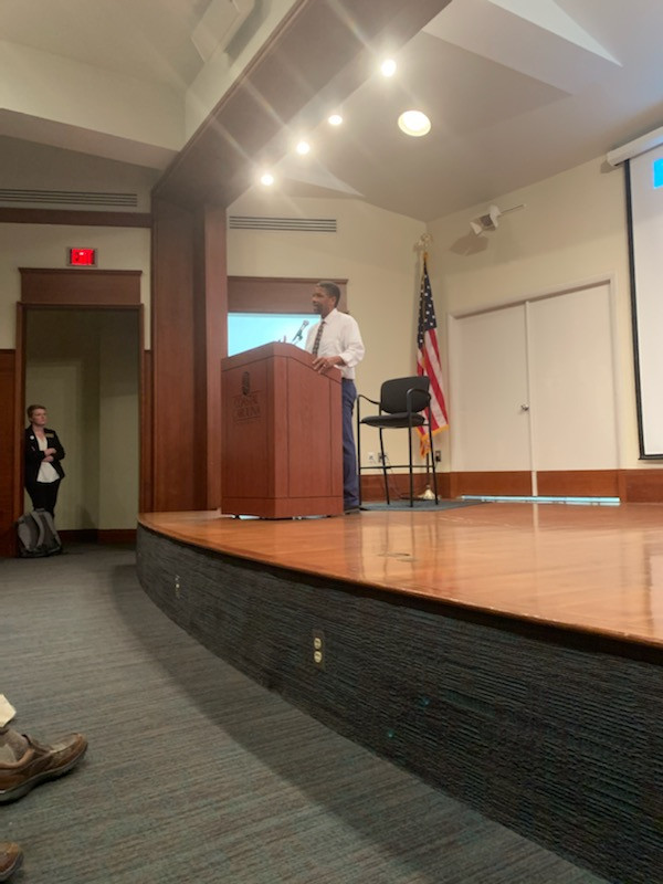 Journalist Isaac Bailey shares his story with CCU