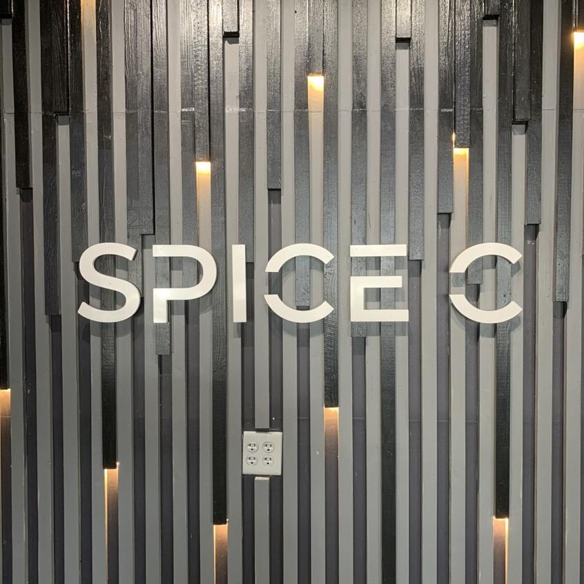 Inside logo.