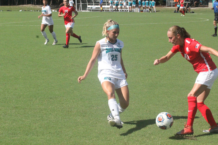 CCU women's soccer team ends the season with a win