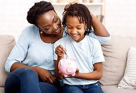 Women and Mother Piggy Bank