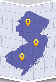 NJ Map Pins
