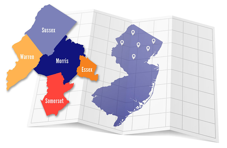 NJ County Map & State