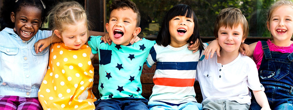 preschool kids mixed race cropped