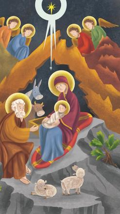 Natividad Coloreado