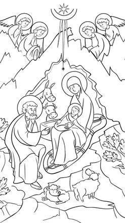 Natividad Colorear