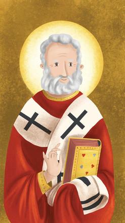 Icono de San Nicolás Coloreado