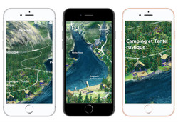 Aperçu sur cellulaire carte artistique d'un parc, Artistic map on a cellular visual