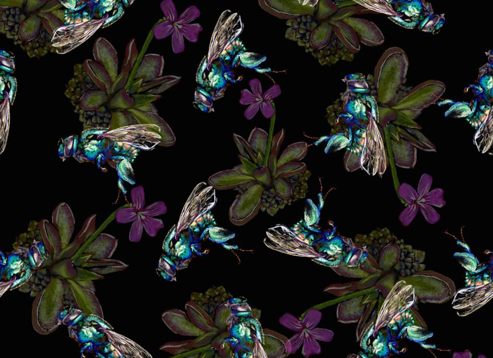 beeorchid + fleur pour motif fond noir.j