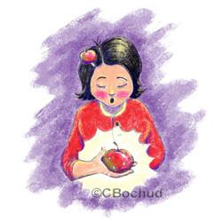 Mère , Mother, Pomme, apple
