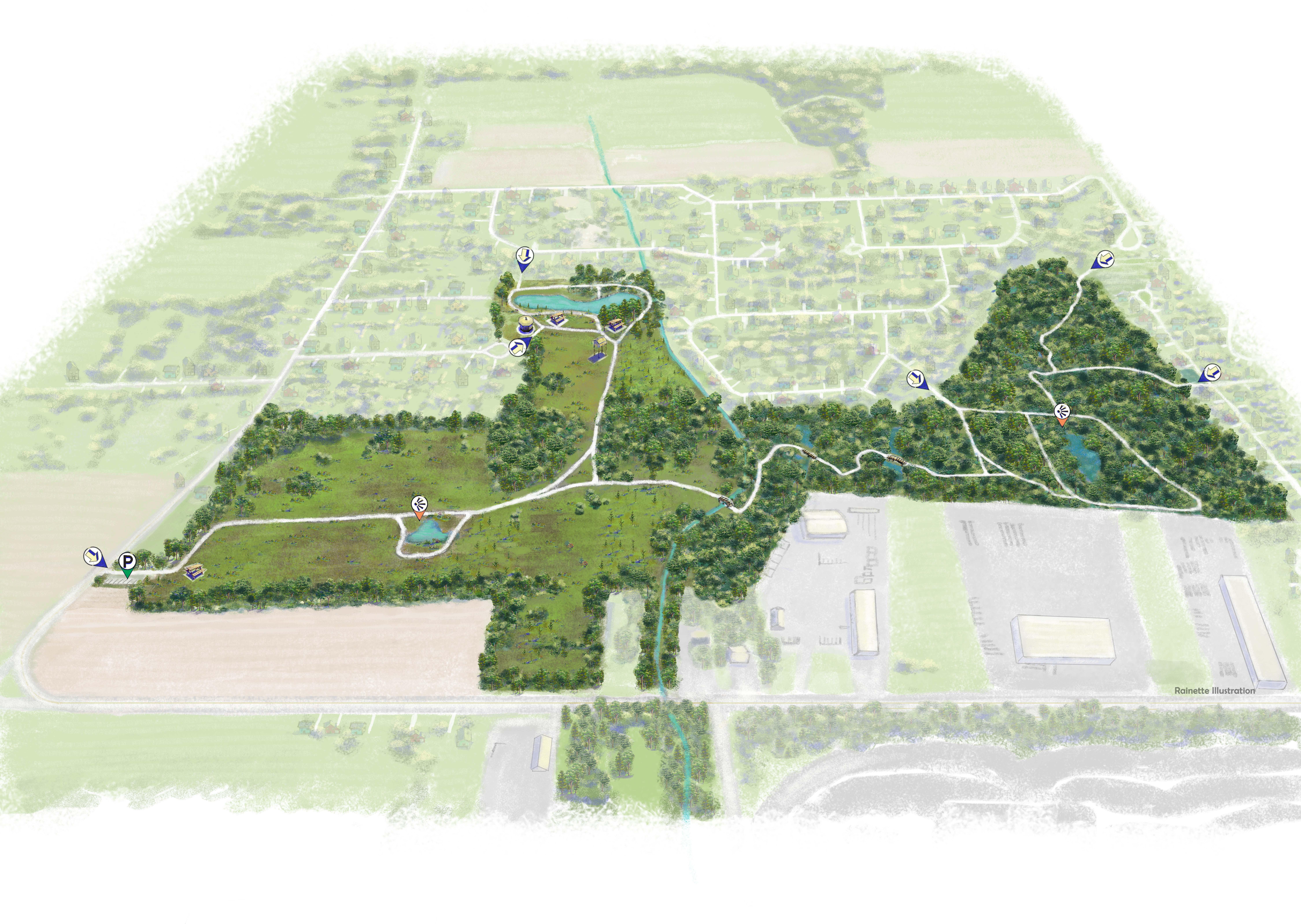 Carte nouveau parc