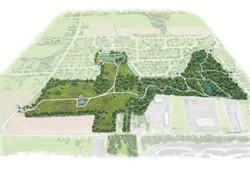 Carte nouveau parc des parulines, Design de carte