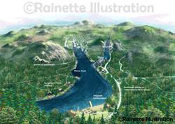 Carte de parc Illustration Design de carte