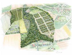 Famille Gassier- Carte du domaine agrotouristique d'un domaine viticole en France