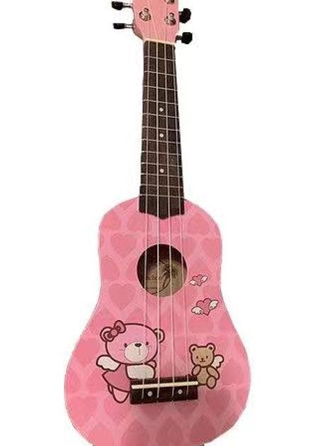 kids ukulele in pink