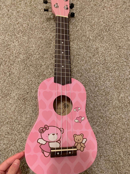 kids ukulele in pink