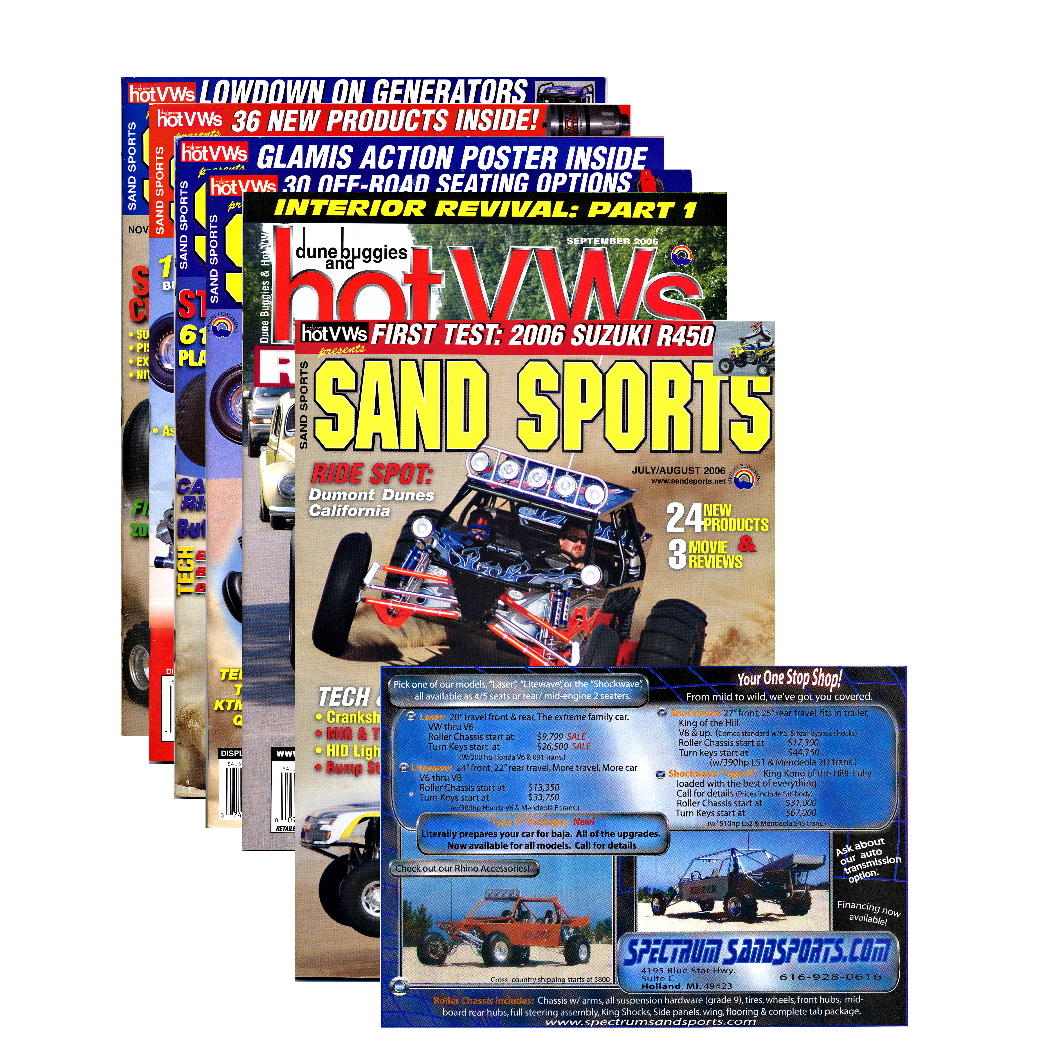 Magazine ad; Spectrum Sandsports