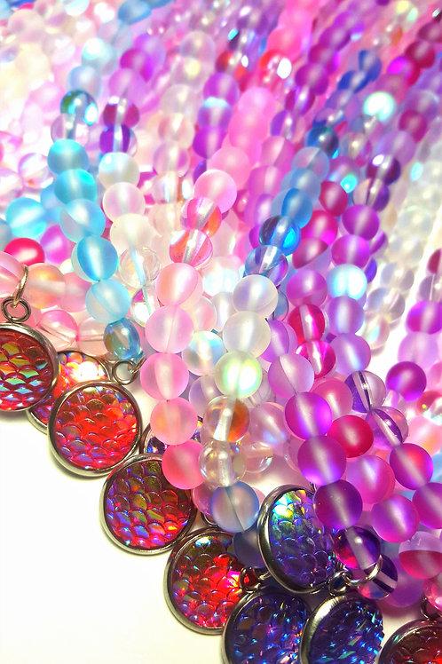 Moonstone Gems Choker w/ Shimmer Charm