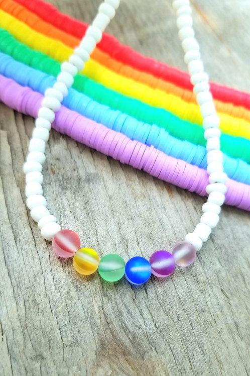 Seed Beed Rainbow Choker