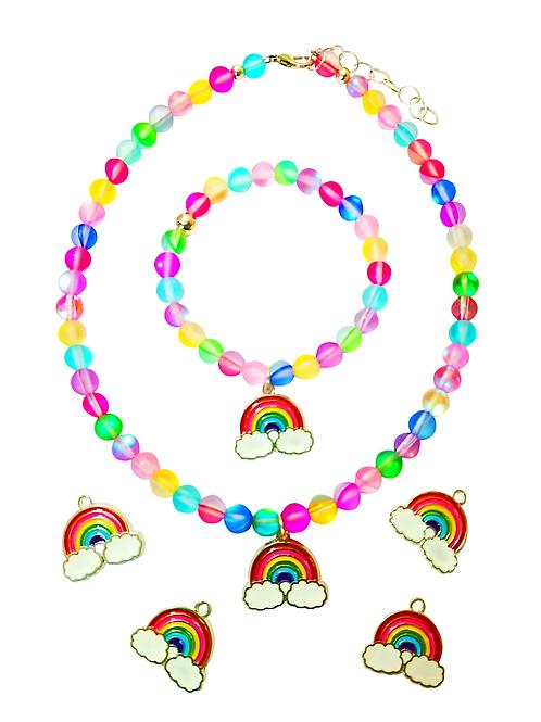 Moonstone Gems Rainbow of Positivity Bracelet