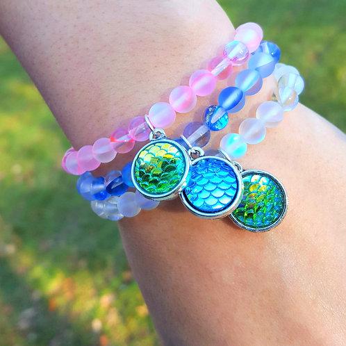 Moonstone Gems Bracelet w/ Shimmer Charm