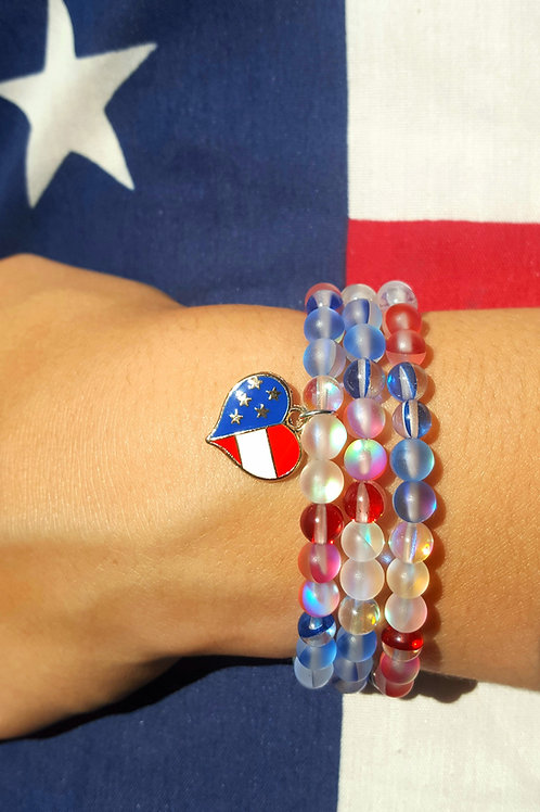 Americana Moonstone Gems Bracelet