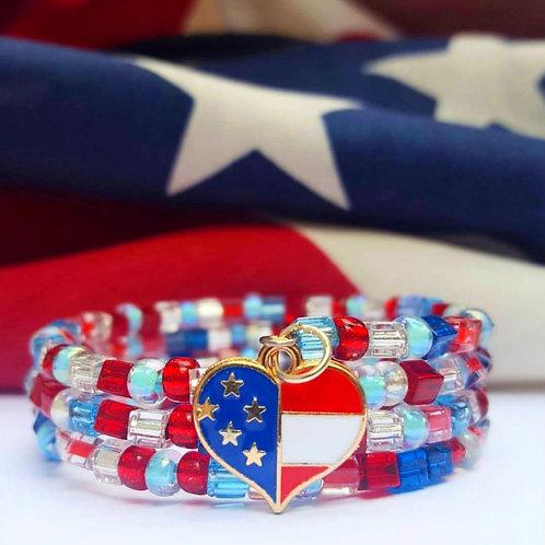 Americana Bitty Beads Bracelet