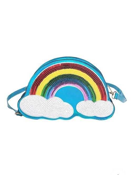 Rainbow Shimmer Cloud Crossbody Purse/Bag