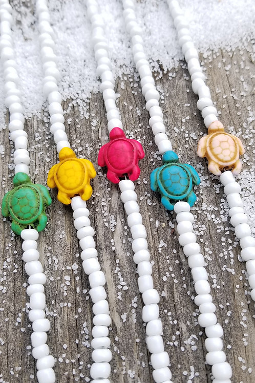 Colorful Summer Turtle Choker