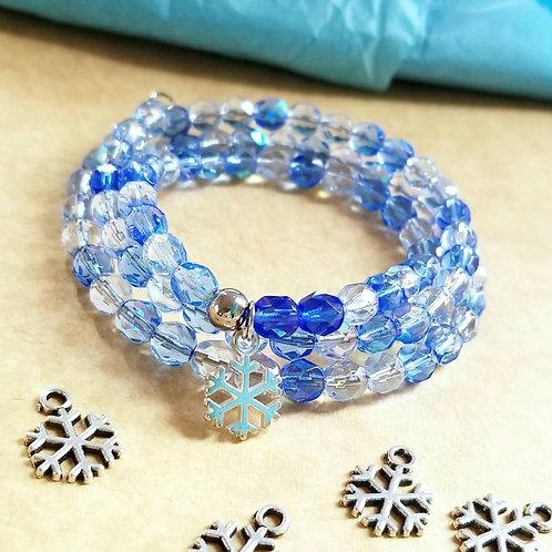 Snowflake Gems Bracelet Blue