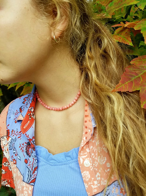 Fall Coral Quartz Choker