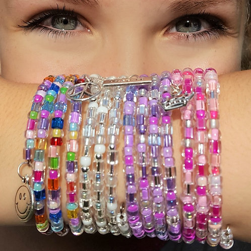 Bitty Beads Wrap Bracelets