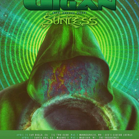 SUNLESS Confirmed As Direct Support For Gigan On North American Spring Tour