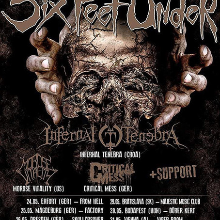 SIX FEET UNDER announces European tour for May!!!