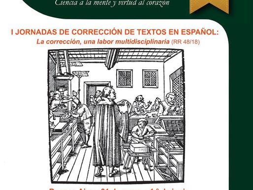 I Jornadas de Corrección de Textos en Español