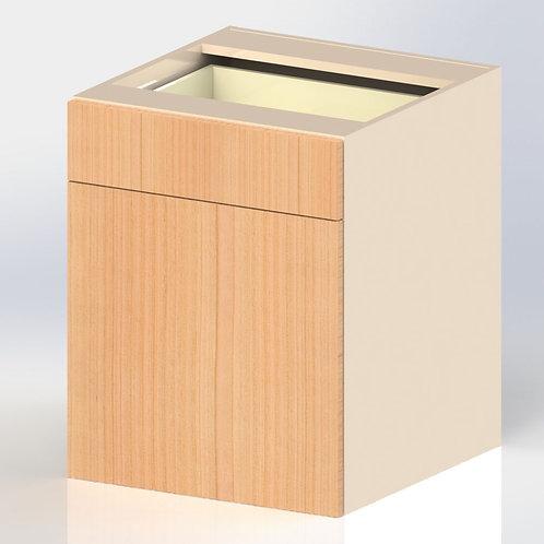 Gabinete de Piso de 1 cajón, 1 repisa y 2 puertas