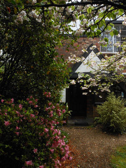Secluded entrance to The Mews