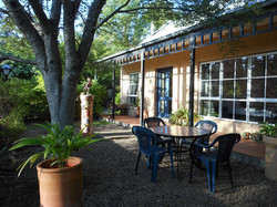 Private verandah and courtyard