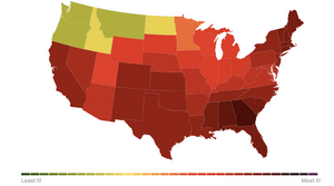 The estimated percentage of people in the United States experiencing flu-like symptoms.