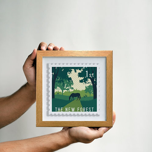 The New Forest oversized stamp