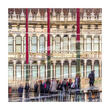 acqua alta sulla piazza San Marco