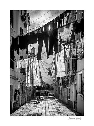 linge dans une rue de Castello