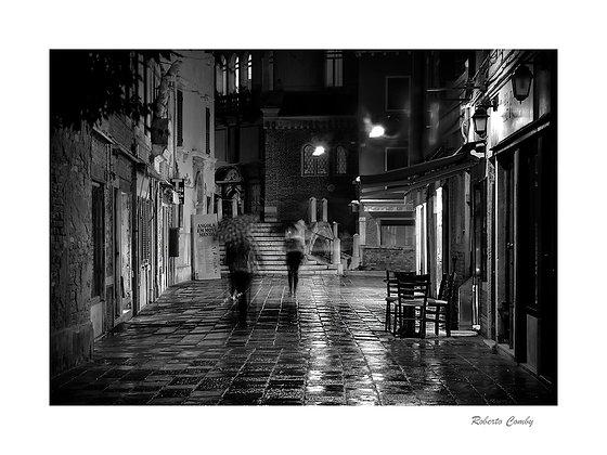 Dorsoduro sous la pluie