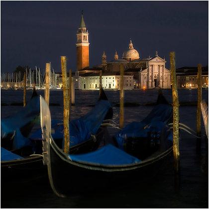 heure bleue sur San Giorgio